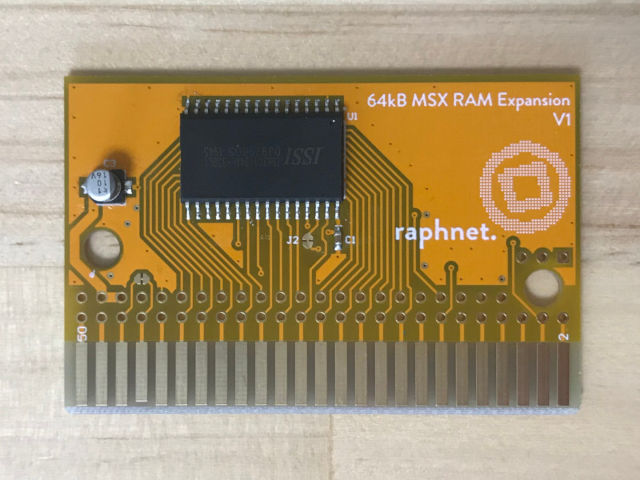 In stock: 64 kB Expansion RAM cartridge board